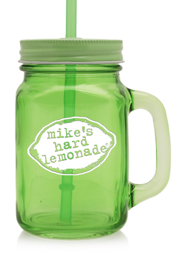 15 Oz Colored Mason Jars With Straw A9800