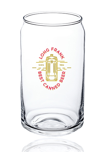 16 Oz Arc Can Shaped Beer Glasses E5458