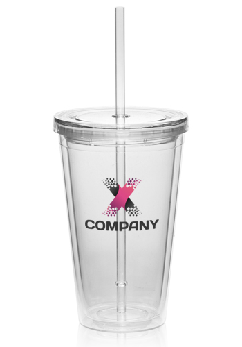 13744fdcd32 Personalized 16oz Double Wall Acrylic Tumblers with Straw | PG161 ...