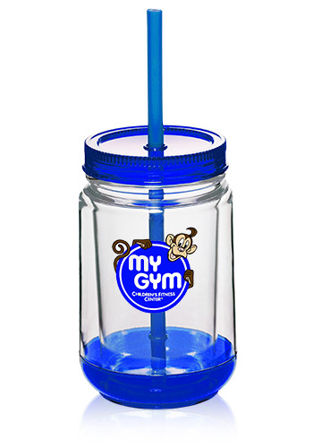 16 oz. Bulk Double Wall Plastic Mason Jars