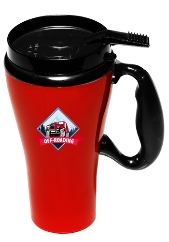 16 Oz Gt Plastic Travel Mugs With Handle Gt16m