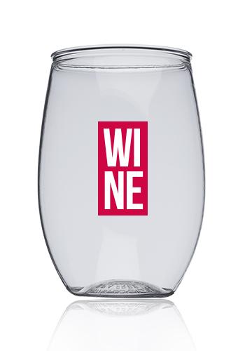 16 Oz Plastic Stemless Wine Gles Ag106