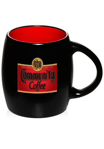 16 oz. Sleek Two Tone Barrel Ceramic Mugs | 1703