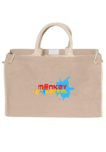 Personalized Bermuda Jute Tote Bags  d97c2aae4de51