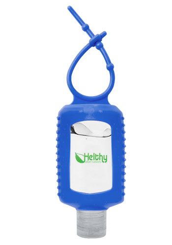 Customized 2 oz.Gel Hand Sanitizers with Silicone Sleeve   HS017