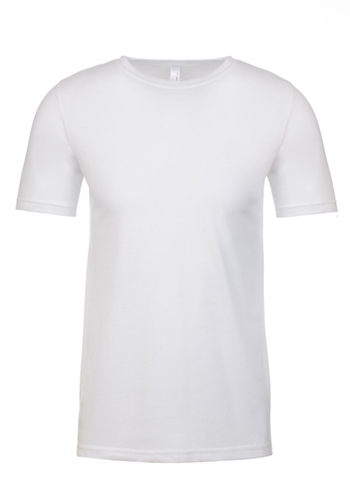 Printed Next Level Mens Poly Cotton Tees Nl6200 Discountmugs