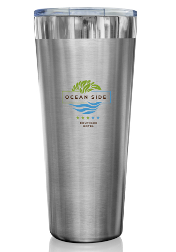 32 oz. Large Chrome Finish Stainless Steel Tumblers | TM342