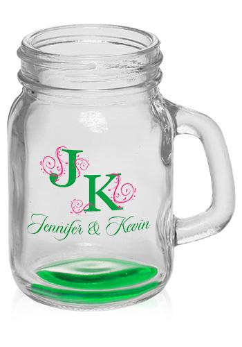 4 5 oz mini mason jar shot glasses with handle a9709. Black Bedroom Furniture Sets. Home Design Ideas