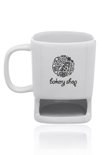 7 oz. Poppy Cookie Holder Custom Mugs | CM8009