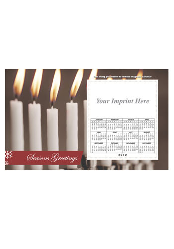 White Candles Calendar Magnets | MGSC06H12