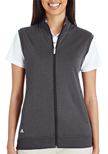 82a13f5c63046 Printed Adidas Golf Ladies Full Zip Club Vests |AOA272 - DiscountMugs