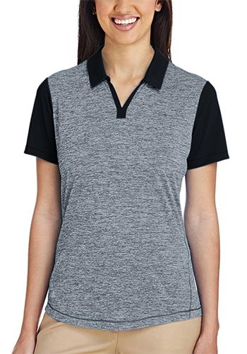 Adidas Golf Ladies Heather Block Polos | AOA146