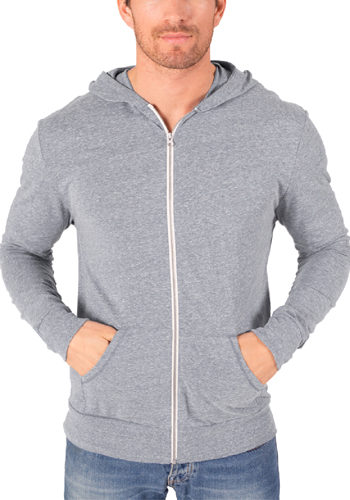 4a6cc1257 Custom 4.5 oz 50% Polyester/38% Cotton/12% Rayon. Adult Triblend Front Zip  Hoodies ...