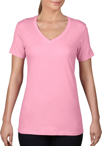 702ccdce65c9 Promotional 100% Ring Spun Preshrunk Cotton. ANVIL Women's Featherweight V-Neck  Tees ...