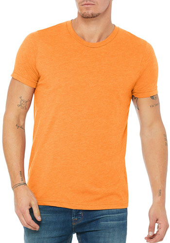 2026c00c2 Custom 3.8 oz 50 Polyester/ 25 Airlume Combed and Ring-spun Cotton/ 25.  Bella Canvas Unisex Triblend Short Sleeve ...