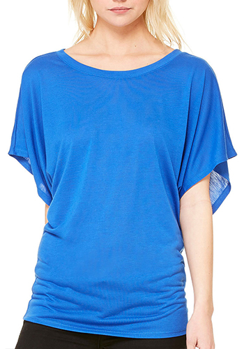 Womens Flowy Draped Sleeve Dolman Tees
