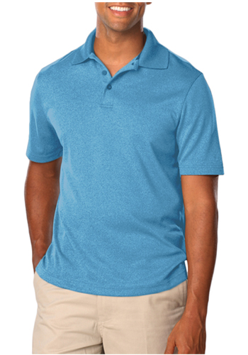 Personalized Blue Generation Mens Heather Polo Shirts
