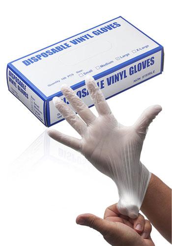 Box of Non Powder Disposable Vinyl Gloves | GLL004