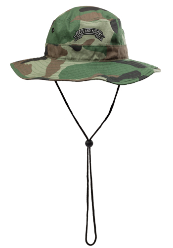 Camo Bucket Hats with Draw Cord