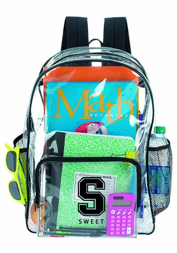 bb57c68182 Personalized Clear Backpacks