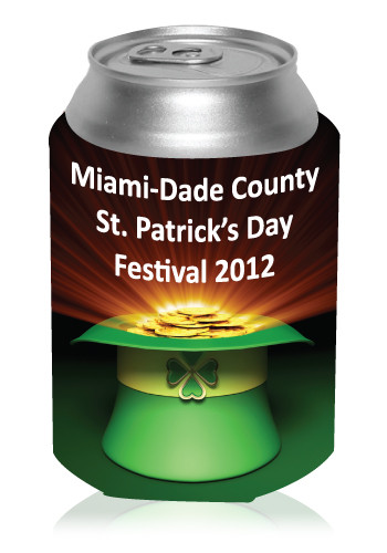 Collapsible St. Patrick's Printed Can Coolers #KZ241