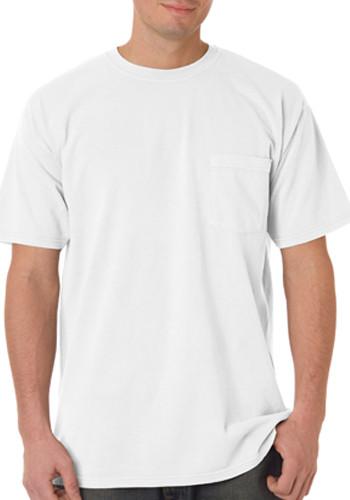 1c4c6f44 Custom 6.1 oz Adult Short Sleeve Pocket Tee   6030 - DiscountMugs