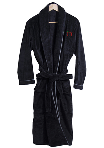 fadde445bc Personalized Coral Plush Robes With Trim