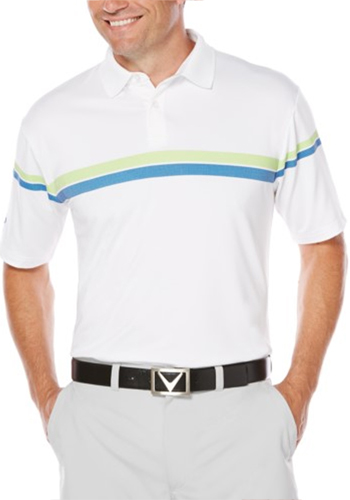 Personalized Callaway Men's Patterned Stripe Performance Polo Shirts
