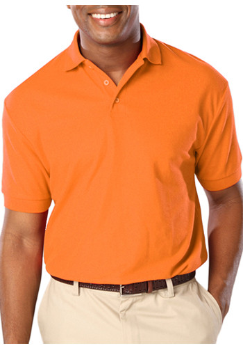Custom activewear performance shirts wholesale prices for Mens orange polo shirt