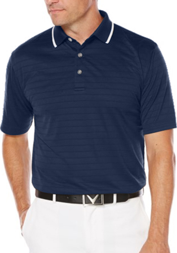 Custom Callaway Men's Raised Ottoman Polo Shirts