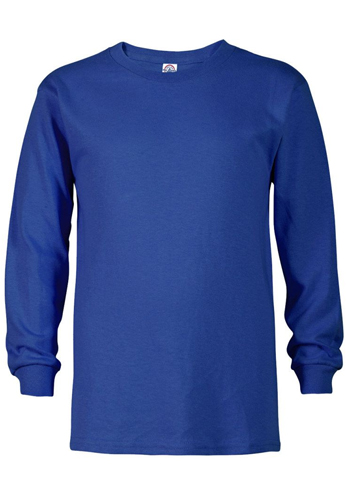 Bulk Delta Apparel 5.2 oz Youth Pro Weight Long Sleeve Tees