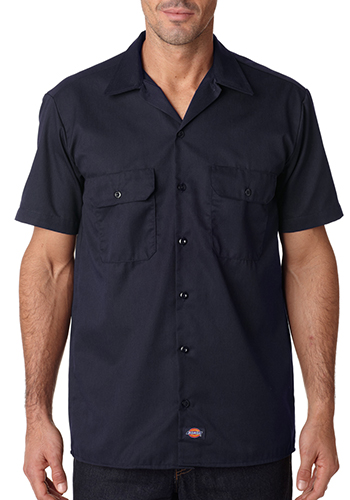 Custom dickies men 39 s short sleeve work shirts 1574 for Embroidered dickies work shirts