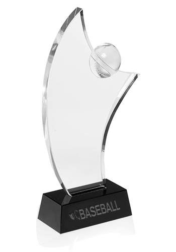 Promotional Baseball Crystal Awards