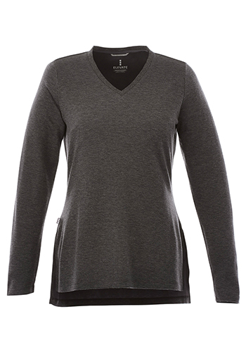 Personalized Elevate Womens Bromley Knit V-Neck Sweaters