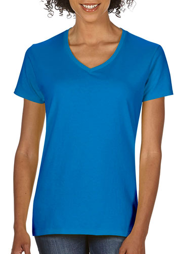 Ladies havey Cotton V-Neck Shirts