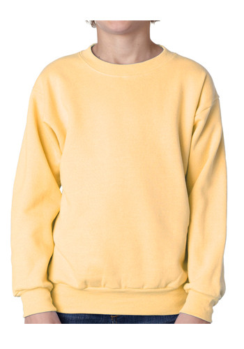 Yellow Crew Neck Sweatshirt