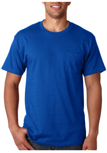 Tagless T-shirts with Pocket