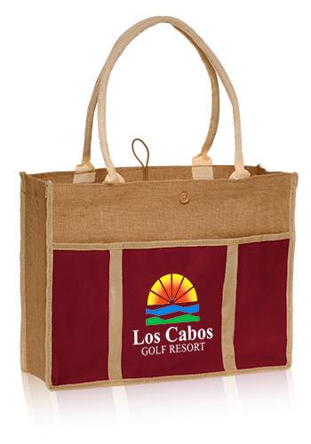 Jute Panel Tote Bags | TOT24