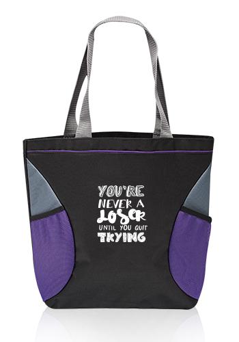 Tutor Shoulder Tote Bag with Mesh Pocket | TOT256