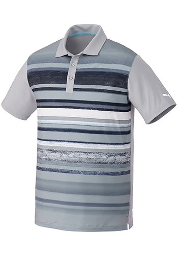 Customized Men's Puma Washed Stripe Polo Pc