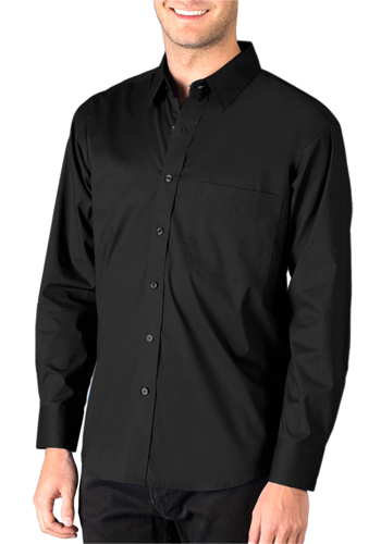 Custom Mens Superblend Poplin Long Sleeve Untucked Shirts