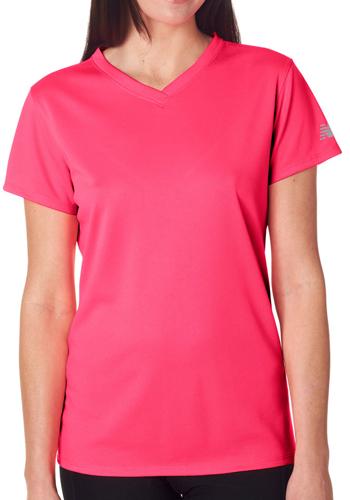 Printed New Balance Ladies V-Neck T-Shirts | NB7118L - DiscountMugs