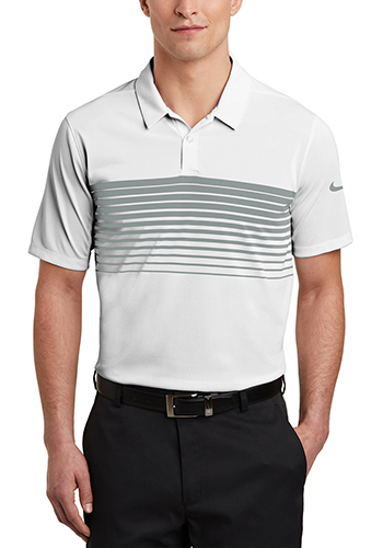 Customized Nike Dri-FIT Chest Stripe Polos