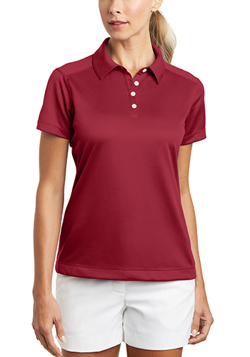 ef2316e5f Personalized 3.9 oz 100% Polyester. Nike Ladies Dri FIT Pebble Texture Polos  ...