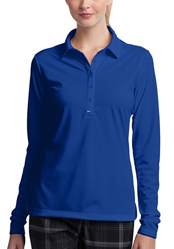 Personalized Nike Ladies Long Sleeve Dri FIT Stretch Tech Polos