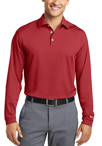 Customized Nike Long Sleeve Dri FIT Stretch Tech Polos