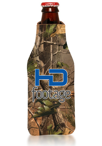 Realtree Camo Zipper Bottle Coolers