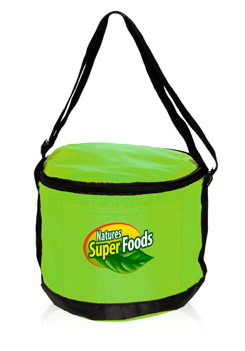 Round Styrofoam Cooler ~ Personalized round polyester cooler lunch bags lun