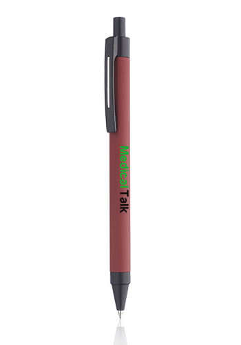 Rubber Coated Retractable Metal Pens | MP278