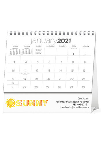 Custom Simplicity Large Desk Calendars X11591 Discountmugs